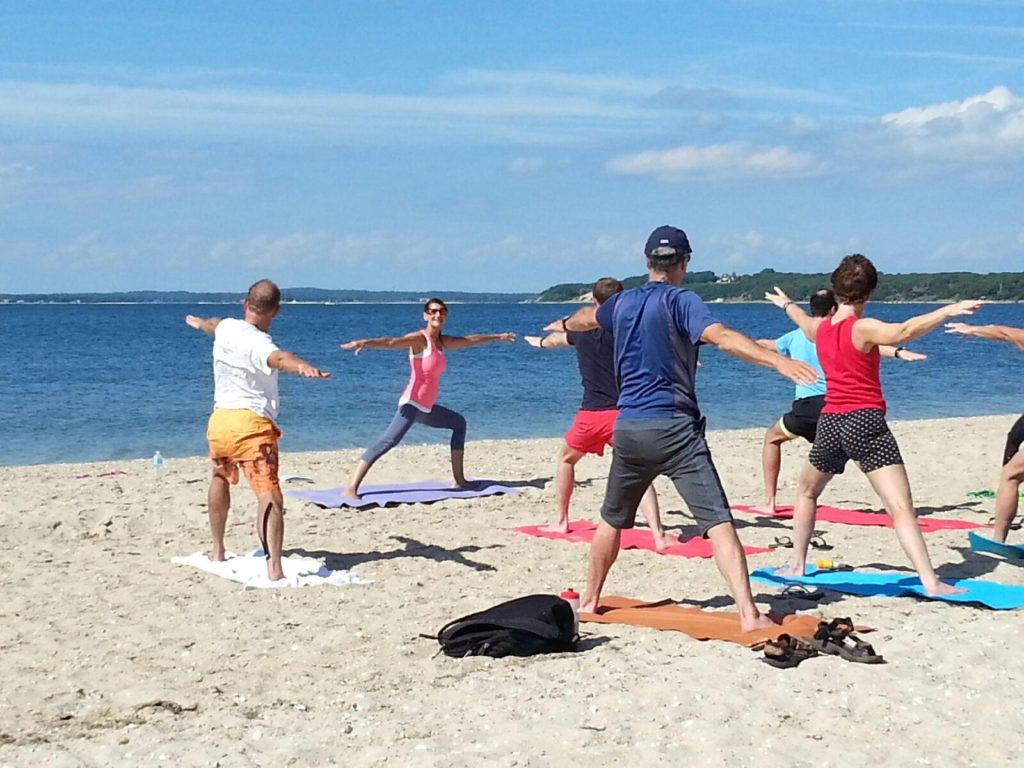 Beach Yoga Class with Marie